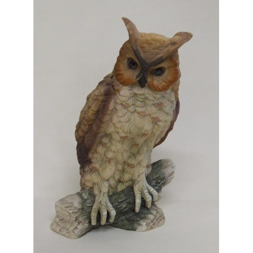 638A - Large Bisque Figurine Owl, approx. 11 1/2