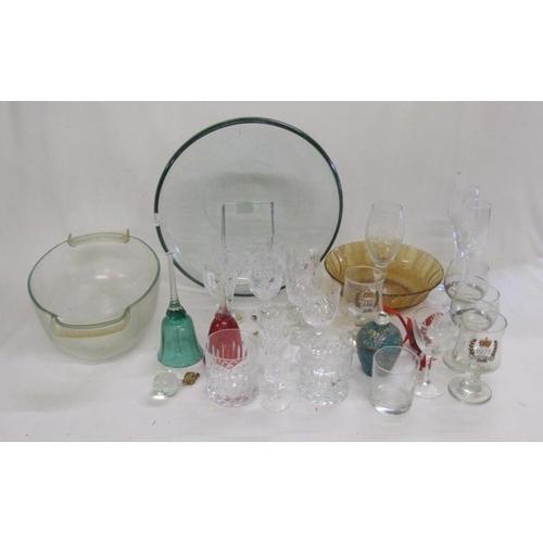 901 - Coalport Figurine 'The Tinker', Large Circular Glass Bowl, Pyrex glass casserole dish, Bohemian crys...