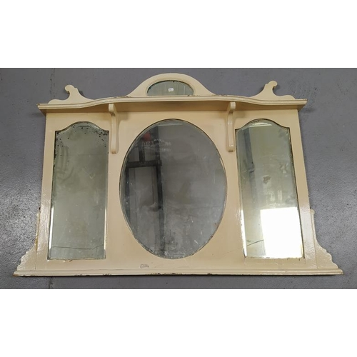 1 - Large Over-Painted Mantel Mirror (A6 F)...