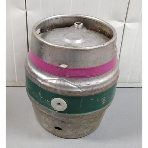 6 - Aluminium Beer Barrel labelled 'Nottingham Brewery' (A7)...