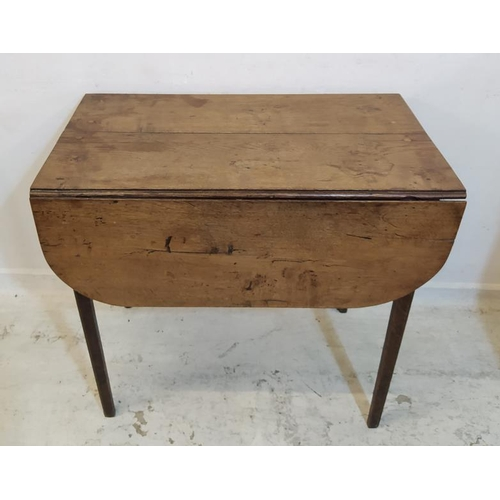 29 - Rustic C18th Pembroke Table on square chamfered supports, frieze drawer with swan neck handle (A4)...