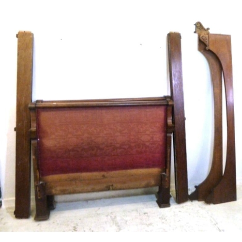 7 - Large Mahogany Continental Ski Style Bed with side supports (A1)...