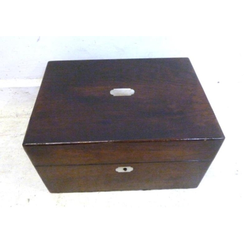 1A - C19th Rosewood Jewel Box with lower drawer (A7)...
