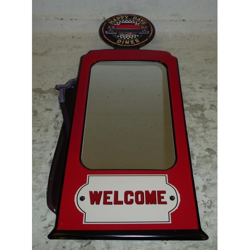 33 - American Diner Mirror as new (A1)...