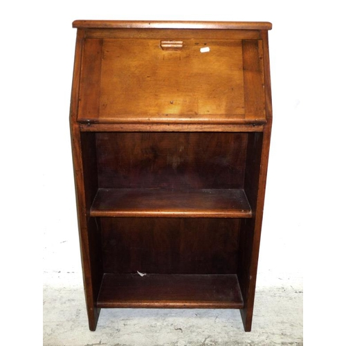 20A - Mahogany Students Style Bureau with fall enclosing small nest over open shelves (A4F)...