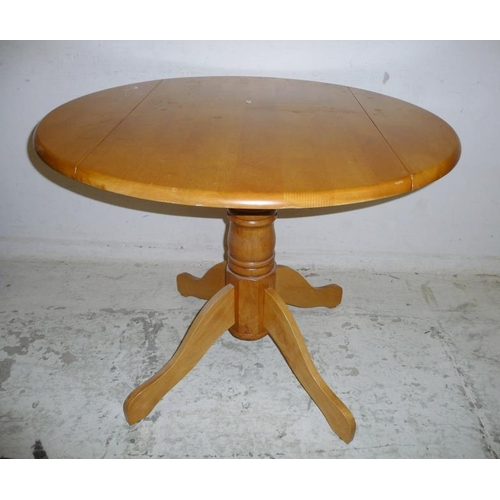 21A - Drop Flap Kitchen Table with turned centre column (A2/3B)...