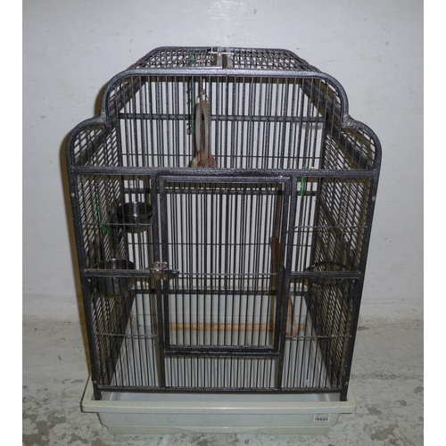 28A - Large Galvanised Metal Bird Cage with trays (A3)...