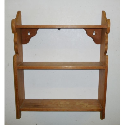 33A - Small Pine Hanging Wall Shelves (A1)...