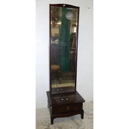 23A - Stag Mahogany Cheval Mirror with drawer under (A8/9B)...