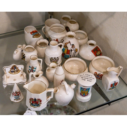 45 - A group of W H Goss and other crested china:.