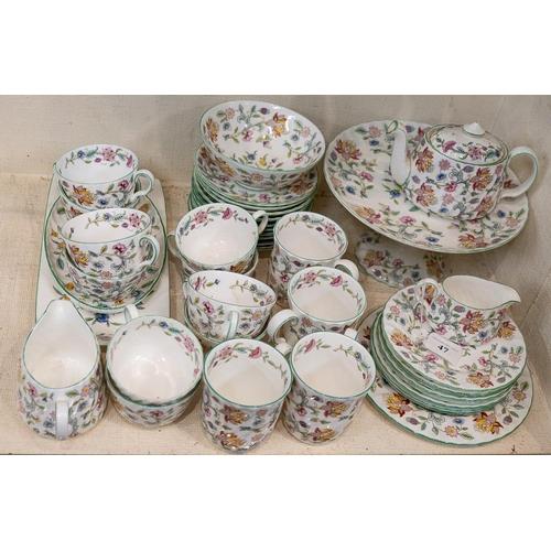 47 - A Minton Haddon Hall tea service:.