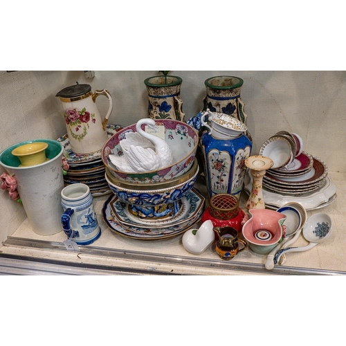 52 - A large collection of miscellaneous ceramics: including a pedestal salad bowl and servers, a pair of...
