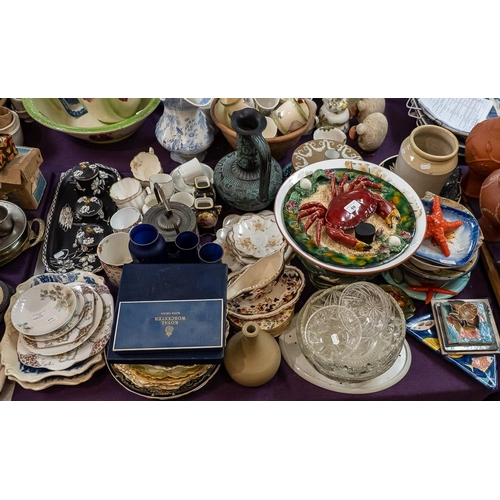 59 - A Limoges dessert service,: miscellaneous tea services and sundry china (a lot).