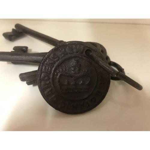 47 - Set of reproduction 'Kew Gardens' metal keys...