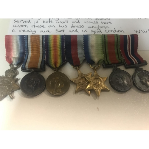 21 - WW1 & WW2 Dress Medal Grouping (as detailed)...