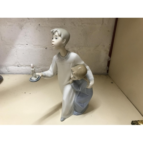 12 - Lladro figure - Children with Candle...