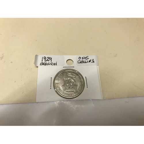 14 - Silver 1929 Shilling...