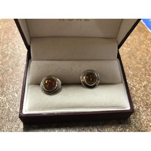 46 - 925 Silver & Amber earrings...