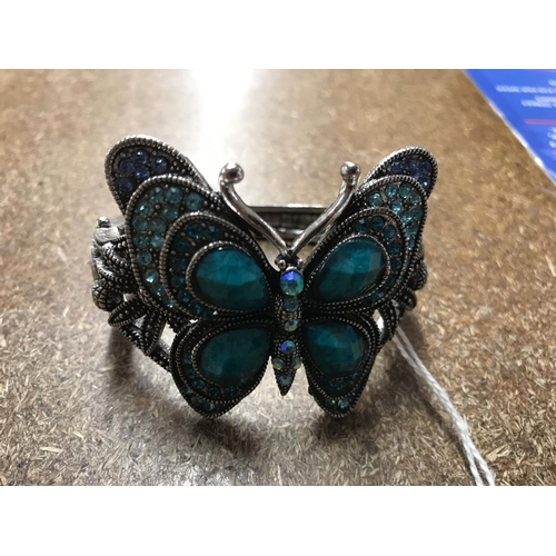 47 - Jewelled Butterfly bangle...