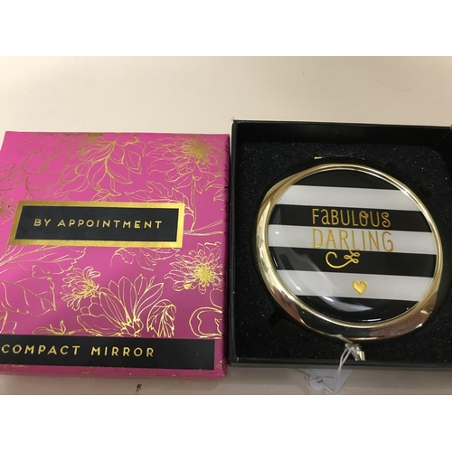 58 - 'Fabulous Darling' Compact mirror, new/boxed...