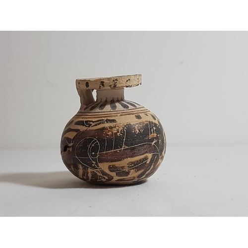 Small Antique Greek Vase With Traditional Decoration Approx 25