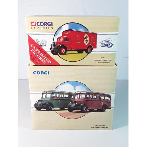 3 - Boxed Corgi lorry 97371 and Boxed Corgi bus set 97078...