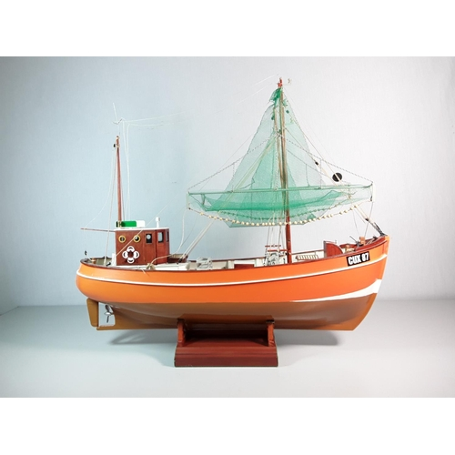 44 - Model of a fishing boat approx 21'' x 19''...