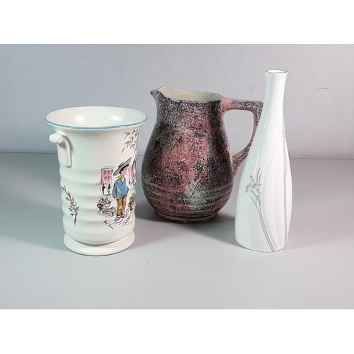 8 - 2 Vases inc: Doulton and a jug...