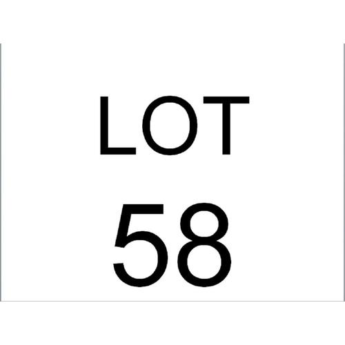 58 - METAL SHELF...