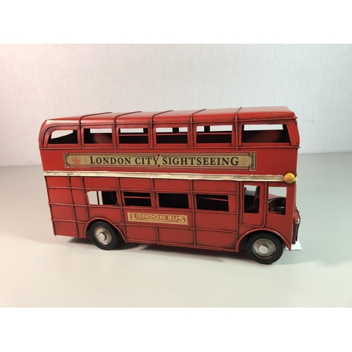 5 - Tin plate model of a London bus approx 10'' x 5.5''...