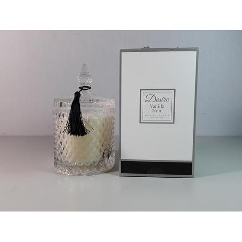 8 - Boxed Desire vanilla noir candle...