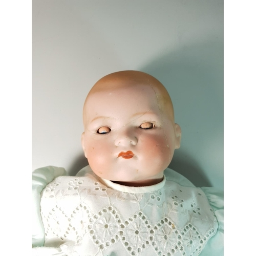 12 - Vintage porcelain doll by Armand Marseilles , approx 20''...