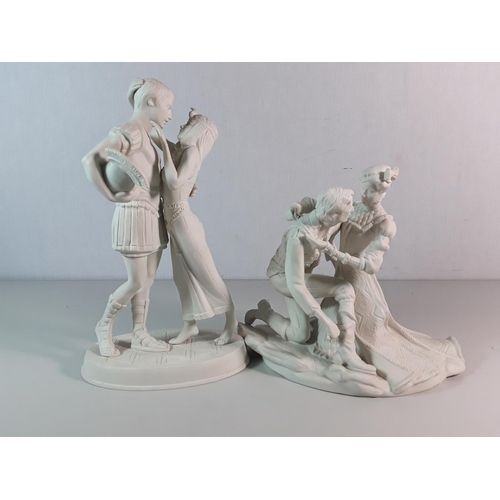 24 - 2 Shakespeare  porcelain figures by Franklin mint...