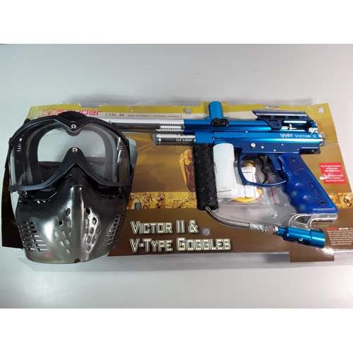 26 - Paint ball gun and mask...