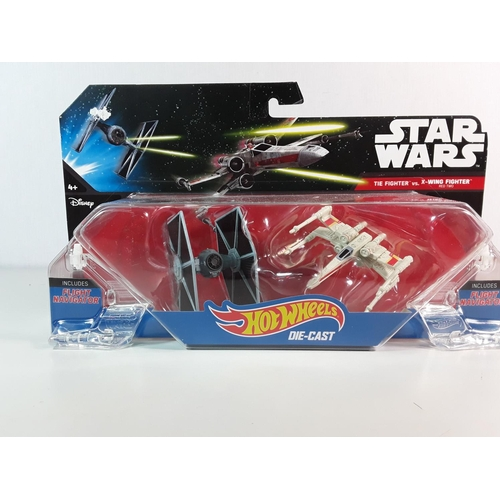 27 - Boxed hotwheels starwars toys...