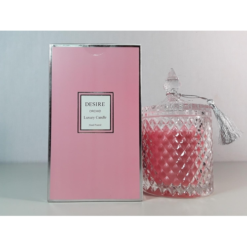 37 - Boxed desire Orchid candle...