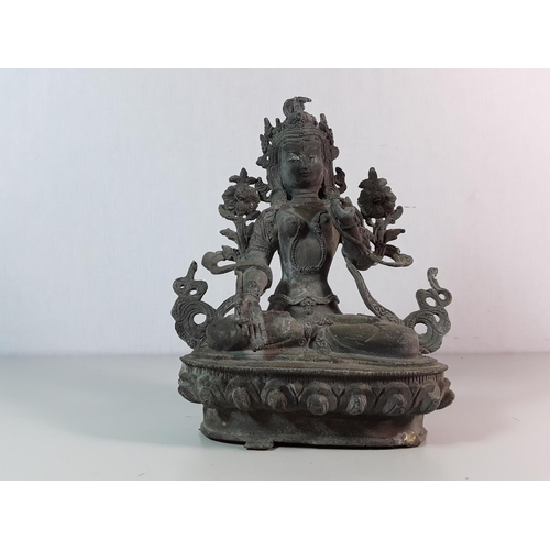 47 - Bronze goddess figure...