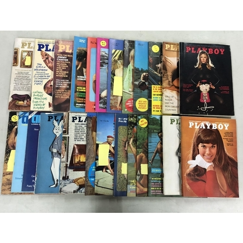 51 - Box of vintage adult magazines including, Young naturist and Playboy from the 1960's & 70's...