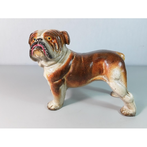 3 - Cast metal figure of a Bulldog approx 6'' x 9''...