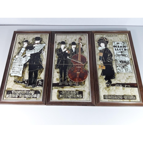 17 - 6 Framed picture tiles (3 pairs)...