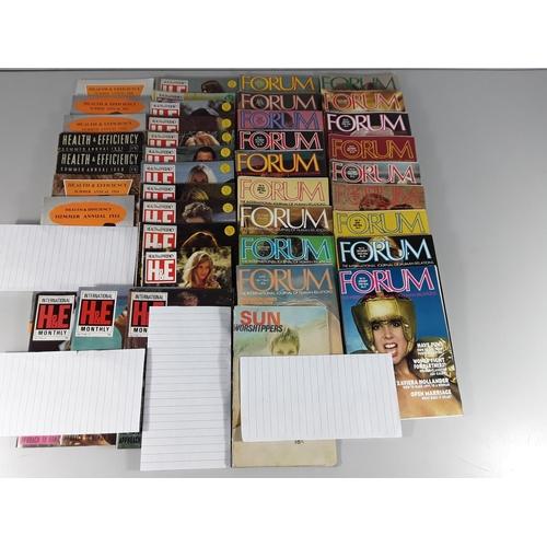 52 - Qty of vintage adult magazines inc Forum, H&E etc...