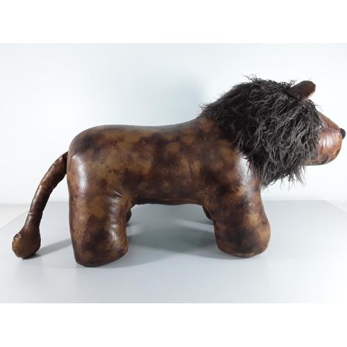 33 - Liberty style lion foot stool approx 78cm x 46cm x 34cm...