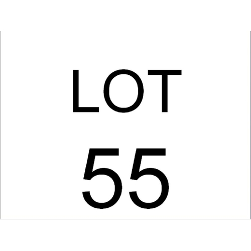 55 - DISPLAY CABINET ON CUPBOARD...