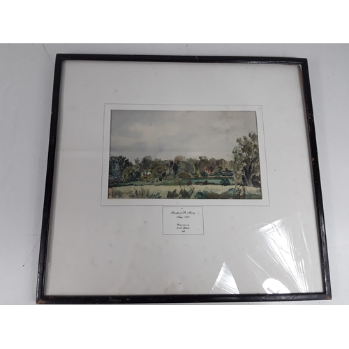 15 - Framed vintage watercolour...