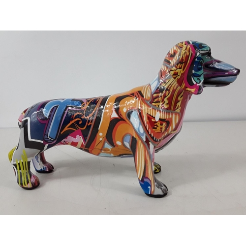 19 - Graffiti dog approx 26cms by 17cms...