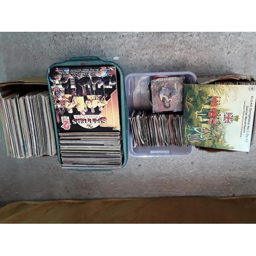 48 - 4 boxes of LP's and 45's...