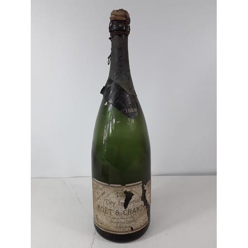 52 - Vintage Moet magnum advertising bottle dated 1928...