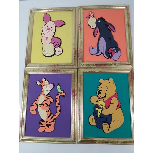 50 - Set of 4 Disney 3d pictures...