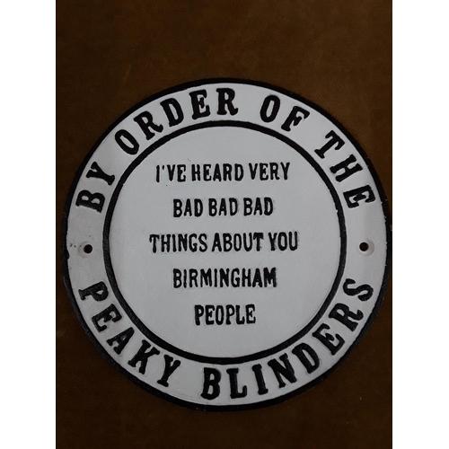 12 - Cast metal Peaky Blinders sign...