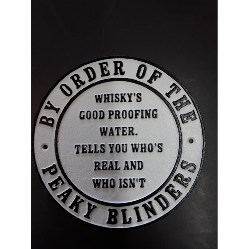 15 - Peaky Blinders cast metal sign...